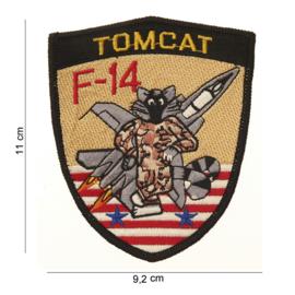 Embleem stof F14 Tomcat - 11 x 9,2 cm.