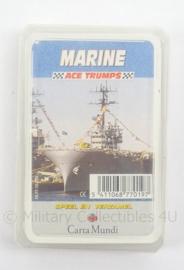 Marine ACE TRUMPS Kaartspel in doosje - afmeting 6,5 x 10 cm - origineel