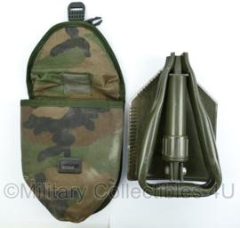 Korps Mariniers klapschep met molle hoes - forest camo - origineel
