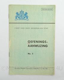 Staf Bevelhebber Nederlandsche strijdkrachten oefenings aanwijzing No3 uit 1945 - afmeting 15 x 23 cm - origineel