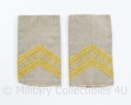 Defensie desert GVT  epauletten paar Sergeant Majoor - 8 x 5 cm - origineel