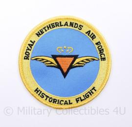 Klu Royal Netherlands Air Force historical flight embleem - met klittenband - diameter 9 cm -origineel