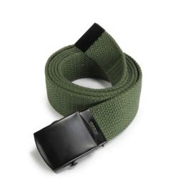 Leger model Broekriem Groen met zwart metalen slot - nieuw gemaakt