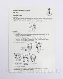 Kmar Marechaussee instructiekaart IK 19-5 NBC mondkapje - 18 x 12,5 cm - origineel