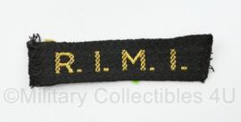 MVO straatnaam enkel R.I.M.I - Reparatie-inrichtingen en materieel inspectie - 8 x 2 cm - origineel