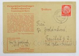 WO2 Duitse postkarte 1941 - konzentrationslager Sachsenhausen Oranienburg bei Berlin - origineel