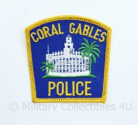 US Coral Gables Police patch  - 7,5 x 8,5 cm -  origineel