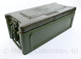 Defensie munitiekist extra degelijk metaal - 20,5 x 46,5 x 17 cm - origineel