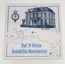 KMAR staf 1e divisie wandtegel - origineel