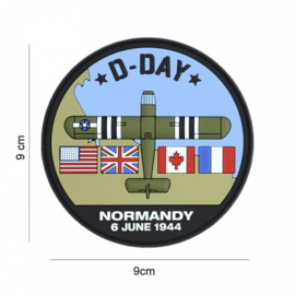 D-Day Waco embleem 3D PVC - met klittenband - 9 cm diameter