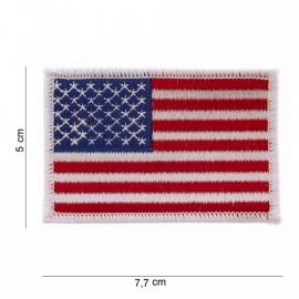 Uniform landsvlag USA - witte rand - Klein - 5 x 7,7 cm.