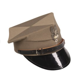 Poolse leger platte pet manschappen Tschapka met insigne - khaki - maat 57 of 60 - origineel