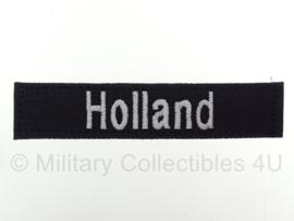 Naamlint HOLLAND met klittenband Zwart - nieuw gemaakt