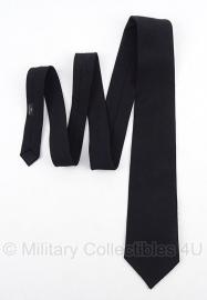 Stropdas - zwart katoen- dikke kwaliteit stof - origineel Britse leger
