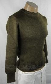 Wollen leger trui - Bruin - origineel eind jaren 40 / begin 50 -  WO2 US model - origineel
