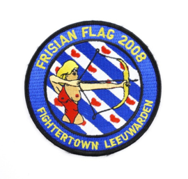 KLU Luchtmacht embleem Frisian Flag 2008 Fightertown Leeuwarden - diameter 10 cm - origineel
