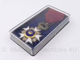 Belgisch – militair – RIDDER IN DE KROONORDE zilveren medaille met doosje - Origineel