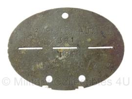 WO2 Duitse erkennungsmarke - Panzer Abwehr Abteilung 559 - persoonsnummer 381 - origineel