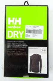 KMAR Marechaussee HH Helly Hansen thermisch ondershirt lange mouw zwart HH thermoshirt - HH Workwear - maat L - nieuw in verpakking - origineel