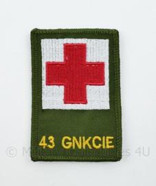 43 GNKCIE Geneeskundige Compagnie embleem - met klittenband - 8 x 5,5 cm