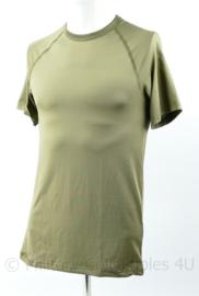 Defensie shirt Groen, mannen vocht regulerend warm weer -  Medium of Large - origineel