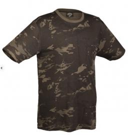 Black Multicamo T shirt korte mouw- nieuw gemaakt