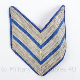 Korps Rijkspolitie of Gemeentepolitie arm chevron - rang Hoofdagent - afmeting 9 x 11 cm - origineel