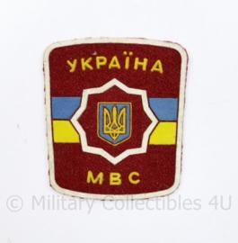 Oekraïense politie embleem MBC Ukraine Ykpaiha MBC  - 7,5 x 6,5 cm  - origineel