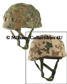 Bundeswehr flecktarn helm overtrek - omkeerbaar - nu in meerdere maten - origineel