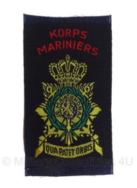 Korps Mariniers embleem - +/- 5 x 9 cm -  Origineel