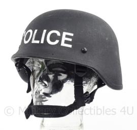 """Politie en special forces MIch helm zwart NIJ L3a IIIa - MLA COM Spec Ops Helmet - Met """"POLICE"""" voorop - origineel"""