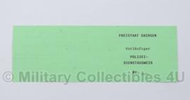 Vorläufiger polizei Dienstausweis - origineel