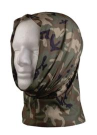 Multifunctioneel hoofddeksel - muts, balaclava, sjaal, hoofdband etc. - Woodland camo