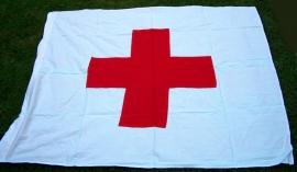 Rode Kruis / Sanitäter vlag  - 90 x 100 cm.katoen