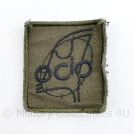 KL borst eenheid embleem met klittenband OCIO -  5 x 5 cm - origineel