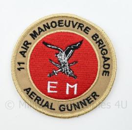 11 Air Manoeuvre Brigade Aarial Gunner embleem Luchtmobiele Brigade - met klittenband - diameter 9 cm