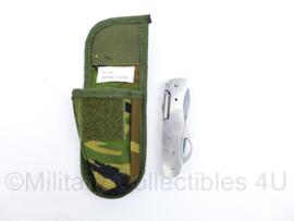 Defensie zakmes Zwanenburg inclusief Molle zakmestas Woodland - 13 x 7,5 x 3 cm - origineel