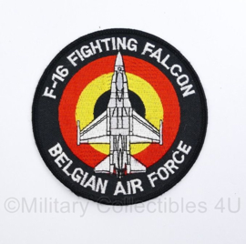 BAF Belgian Air Force F-16 Fighting Falcon embleem - met klittenband - diameter 10 cm -  origineel