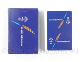 Koninklijke Marine kaartspel compleet - afmeting 9 x 6 x 2 cm - origineel