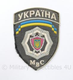 Oekraïens politie embleem Ukraine Ykpaiha MBC - 12,5 x 9 cm - origineel