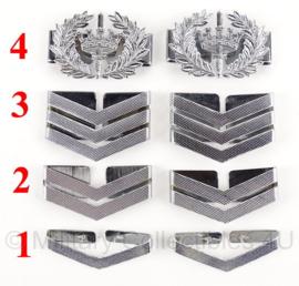 Gemeentepolitie schouder rangen zilver - metaal - per paar - origineel