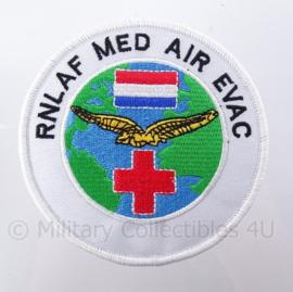 "KLu Koninklijke Luchtmacht ""Rnlaf Med Air Evac"" RNLAF Royal Netherlands Air Force -  met klittenband - diameter 10 cm"