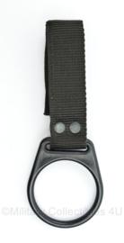 Kmar zwarte nylon koppelhouder - origineel maar nieuw - 15 x 5,5 cm - origineel