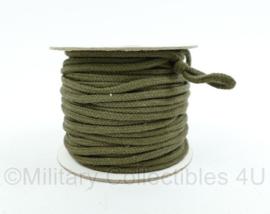 Nederlands leger Touw gevlochten legergroen -  4 mm dik en 50 meter lang  - nieuw - origineel