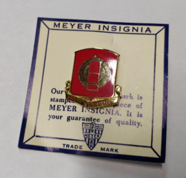 "34th Field Artillery Distinctive Unit Crest metaal ""we support""- 2,9 x 2,7 cm - Meyer insignia - origineel US army"