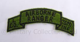 US Vietnam oorlog patch Airborne Ranger L compagnie 75th Infantry Division - 4 x 10 cm - origineel