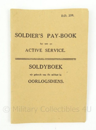 wo2 Afrikaanse Soldiers Pay book Soldyboek oorlogsdien - replic