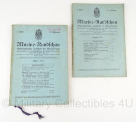 Boek Marine Rundschau - 1914 - set van 2 boeken - origineel
