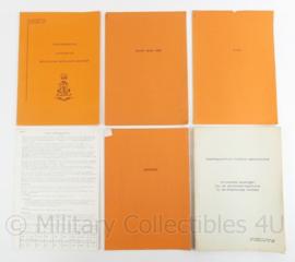 Defensie archiefbeheer en Militaire administratie documenten set - origineel