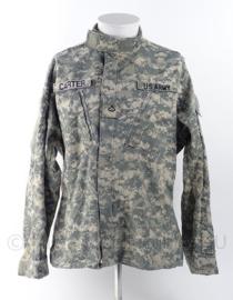 "US Army ACU camo jas - ""Carter"" - met rang op de borst - Medium Regular - Origineel"